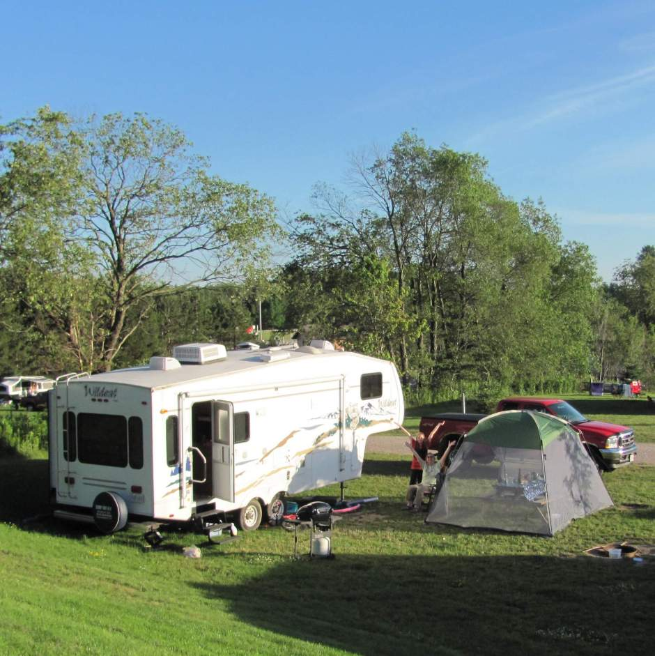 Our campsite at Highland Pines