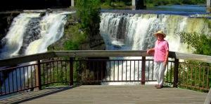 Elaine at Kakabeka Falls
