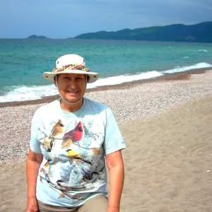 Elaine on Lake Superior Beach