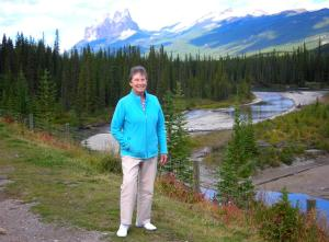 Elaine with the Bow River
