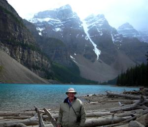 John at Moraine Lake near Lake Louise