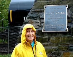 Elaine at Craigellachie, BC - The Last Spike