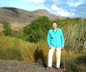 Elaine in BC Desert at Cache Creek