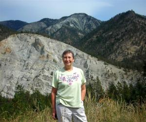 Elaine at the Fraser Canyon