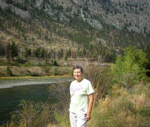 Elaine in the Fraser Canyon