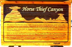 Horse Thief Canyon Notice Board