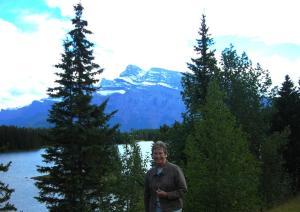 Elaine at Two Jack Lakeside, Lake Miniwanka