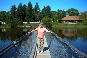 Wolesly  - Elaine on Suspension Bridge
