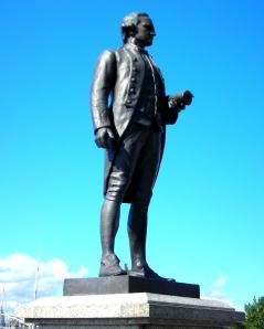 Captain Cook's Statue, Victoria, BC -- Elaine's Illustrious Ancestor