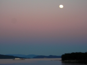Moonlight over the Gulf Islands