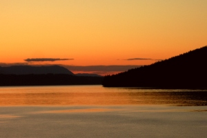 Sunset in the Gulf Islands of BC