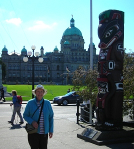 Victoria - BC Legislature and Totem Pole