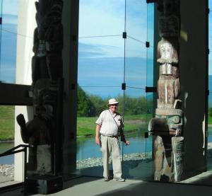 John with Totem Poles