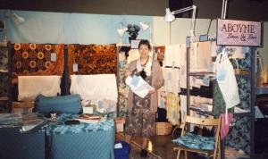 Aboyne Linen and Lace Show Booth