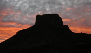 Dawn in the Chisos Mountains. Big Bend National Park