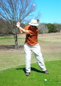 Elaine's Purposeful Attack. Golf at Fort Clark, Texas