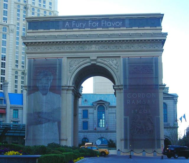 Gordon Ramsay has taken over the Arc de Triomph